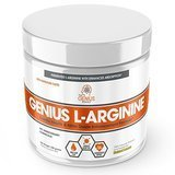 The Genius Brand Fermented L-Arginine Nitrous Oxide booster supplement in loose powder form.
