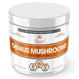 The Genius Brand Genius Mushrooms Immune System Booster and Nootropic Brain Supplement, 90 Count