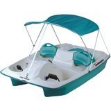 Sun Dolphin 5-Person Adjustable  Sun Slider Pedal Boat with Canopy