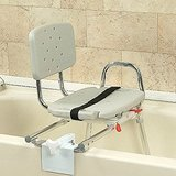 Eagle Health Snap-N-Save Sliding Tub-mount Transfer Bench with Swivel Seat