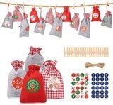 Aitsite Christmas Advent Calendar with Drawstring Gift Bags