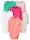 Carter's Baby Girls' Long-Sleeve Bodysuits