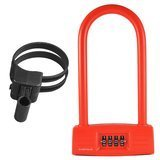 Lumintrail Combination Bicycle U Lock with Mounting Bracket
