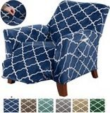 Great Bay Home Brand Modern Velvet Plush Strapless Slipcover
