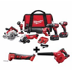 Milwaukee M18 18-Volt Lithium-Ion Cordless Combo Tool Kit