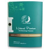 PleasingCare Natural Bamboo Charcoal Oil Absorbing Tissues