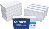 "Oxford 3 x 5"" White Ruled Index Cards, 1,000-Count"