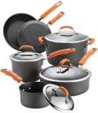 Rachael Ray 10-Piece Brights Hard-Anodized Nonstick Cookware Set