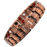 Reevaria Mens Elegant GUARANTEED 99.9% PURE Copper 4 in 1 Magnetic Therapy Bracelet