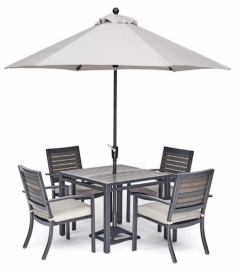 Macy's Furniture Marlough II Outdoor Aluminum 5-Pc. Dining Set