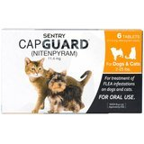 Sentry Capguard Oral Flea Treatment Medication, 2 to 25 pounds, 6 Count