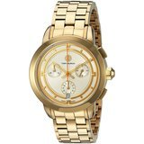 Tory Burch Tory Watch, Gold-Toned/Ivory Chronograph, 37 Millimeter
