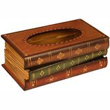 Tosnail Wooden Antique Book Tissue Holder Dispenser
