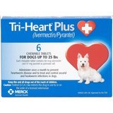 Tri-Heart Plus Chewable Tablets for Dogs, up to 25 Pounds